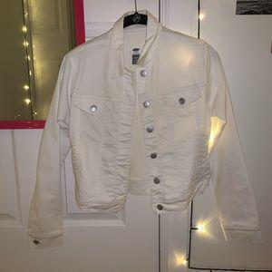 White Old Navy Denim Jacket